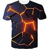 RAISEVERN Unisex T-Shirt Stampa 3D Maglietta Manica Corta T Shirt Divertenti S-XXL