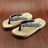 In stile giapponese zoccoli in legno maschio e femmina modelli paio di zoccoli di legno di legno uomini pantofole estivo di non-slip scarpe zoccoli di legno, 26 cm 41-42 metri, sezione carbonizzata grigio scarpe mezza