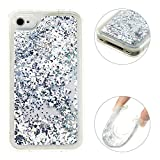 Moon mood Coque iPhone 4 / 4S Transparente Liquide Paillette, Ultra Étui Silicone...