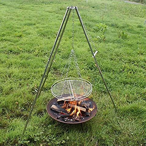 Stainless Steel Tripod Grill / BBQ / Camping Grill / Cooking Equipment / Fire Pit