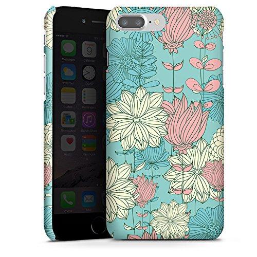 Apple iPhone X Silikon Hülle Case Schutzhülle Blumen Muster Bunt Premium Case glänzend
