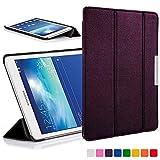 Forefront Cases® Samsung Galaxy Tab 3 Lite 7.0 T110 Hülle Schutzhülle Tasche Bumper Folio Case Cover Stand - Ultra Dünn Leicht mit Rundum-Geräteschutz (VIOLETT)