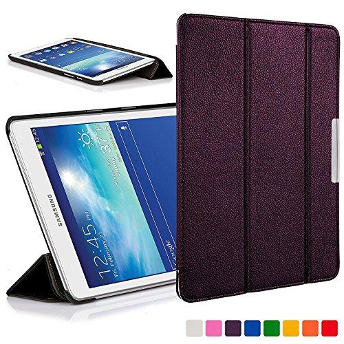 Forefront Cases Smart Hülle kompatibel für Samsung Galaxy Tab 3 Lite 7.0 T110 Hülle Schutzhülle Tasche Bumper Folio Case Cover Stand - Ultra Dünn Leicht mit Rundum-Geräteschutz (VIOLETT)