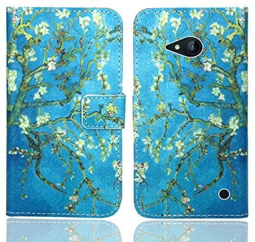 Nokia Lumia 735 730 Handy Tasche, FoneExpert® Wallet Case Flip Cover Hüllen Etui Ledertasche Lederhülle Premium Schutzhülle für Nokia Lumia 735 730 (Pattern 8)