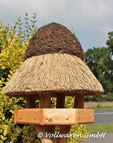 REETDACH VOGELVILLA STETIN (klein) Kiefer Vogelhaus Futterhaus OHNE Ständer 65x57x57 - 2