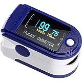NAKE Pulsossimetro Saturimetro da Dito sensore di saturazione di Ossigeno e Polso cardiofrequenzimetro di Colori Diversi con