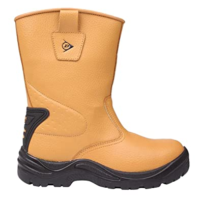 Mens Steel Toe Cap Safety Rigger Safety Boots Shoes (7 (41), Honey