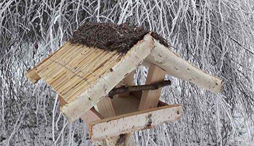 """Vogelfutterhaus mit Reetdach und Heidefirst, """"Friesenhaus mini"""""""