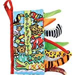 Amison Animal Tails Cloth book Baby Toy Cloth Development Books Learning & Education books