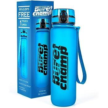 PureChamp Trinkflasche 1000ml - Sportflasche BPA frei und auslaufsicher – Premium Fahrradflasche aus Tritan – ideal für Sport, Schule, Reisen, Outdoor und Freizeit – Top Kundenservice