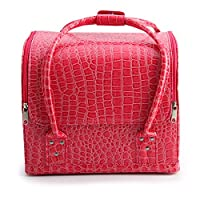 AllRight Make Up Box Beauty Cosmetic Case Make Up Bag Storage Pink Patent