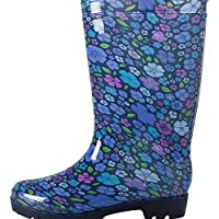 Mountain Warehouse Splash Floral Womens Wellies - Easy to Clean & Waterproof with Cushioned Footbed & Soft Fabric Lining - Best for Gardening or General Outdoor Wear