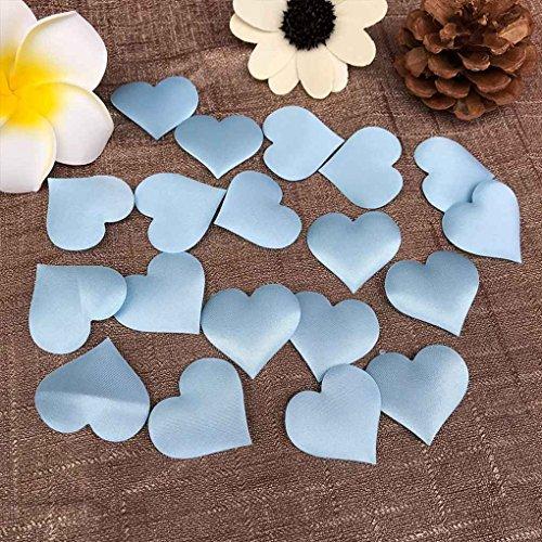 Gotting 100pcs love heart shape design petali di fiori matrimonio fidanzamento confetti table decor blu