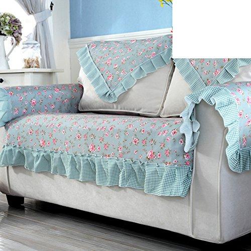 DHWJ Outdoor-Sofa-Kissen Kombination-sofakissen Vier Jahreszeiten Sauber Sofa Handtuch-A 120x120cm(47x47inch) (Outdoor-wildleder-sofa)