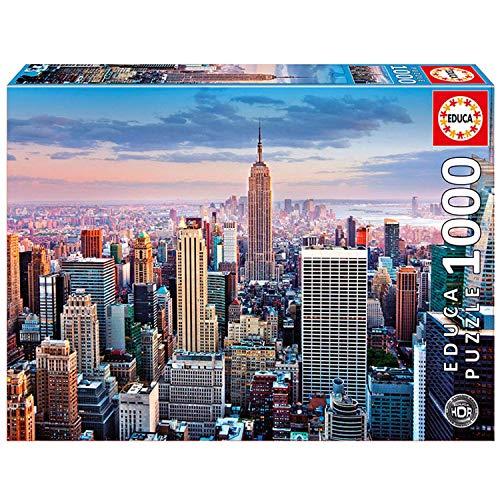 Educa Borrás - Puzzle de 1000 piezas Manhattan, Nueva York, HDR (14811)