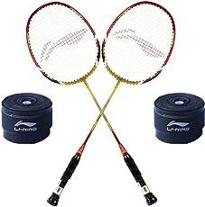 Li-Ning XP 90 II 2PC Badminton Racquet + 2PC GP 20 Grip Super Saver Combo