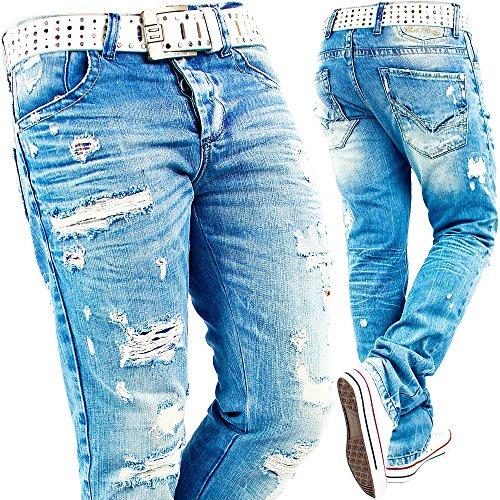 RedBridge Herren Jeans Mens Pants Freizeit-hose Clubwear Biker Style Top Denim Swag Dope Streetwear Modell-04