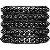 Rafaela Donata - Bracelet en cuir véritable - Cuir véritable agate, bracelet agate, collier en cuir véritable, bijoux en cuir, bijoux en agate - 60831003