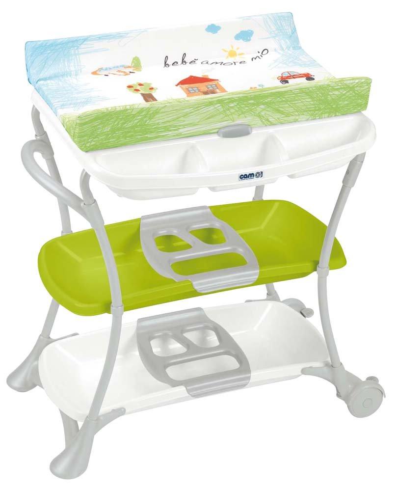 CAM II Mondo del Bambino C610008/222 Changing Table Cloud Design Green