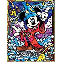 Leezeshaw 5D DIY Diamond Painting By Number Kits Fameless Rhinestone Embroidery Paintings Pictures For Home Decor - Mickey (11.8x15.7inch/30x40cm)