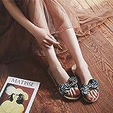 WXMTXLM Pantofole estate Pantofole donna estate casa coperta moda ufficio ufficio fondo morbido paio antiscivolo casa sandali e ciabatte, 39-40 (più di metà yard), blu