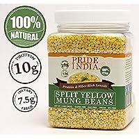 Pride Of India división amarillo indio lentejas mung proteína y fibra rica dal moong, tarro 3 libras