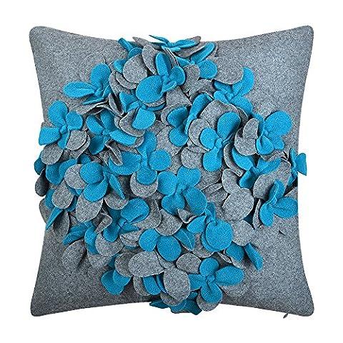 Jwh Laine Fleurs Housses de coussin Patch Work Couvre-lit décoratif
