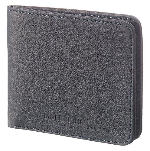 Moleskine Lineage Brieftasche Leder, Horizontal Münzbörse, Blau Avio (Brieftasche Moleskine)