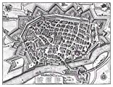 Doppelganger33 LTD Map Antique Merian 1643 Ulm City Plan
