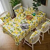 SONGHJ Zitrone Druck Dekorative Leinen und Baumwolle wasserdicht Tischdecke tischdecke Rechteckige Tisch Abdeckung Home Hotel Textil F02 135x220cm