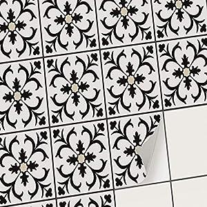creatisto Fliesenaufkleber Fliesenfolie Mosaikfliesen - Klebefolie Aufkleber für Fliesen I Klebefliesen Deko Folien für Fliesen in Küche u. Bad/Badezimmer (20x25 cm I 6 -Teilig)