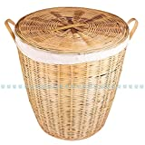 Jupiter Gifts and crafts Bamboo Laundry bin(linen covered)