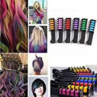 Pelo tiza temporal para el pelo peine tinte Shimmer–Color Crema 6colores