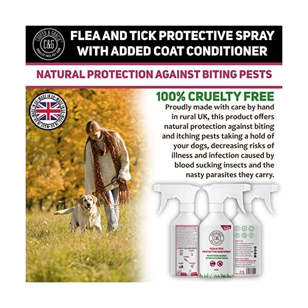 Dog Fleas Protection Spray - Tick and Flea Treatments for Dogs - Best Grooming Coat Conditioner (500ML) 5