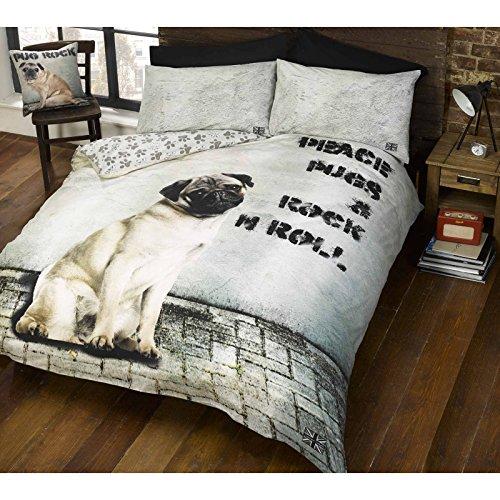 Doghouse Designs cucha 2Diseños de Perro y edredón de Funda de edredón y de Almohada de Perros Cachorro Ropa de Cama Juego de Cama, Beige, Doble
