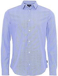 Armani Jeans Chemise Slim Fit Polka Dot Bleu