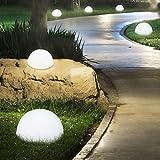 S`Luce LED Solar-Kugelleuchte weiß Ø 20 cm