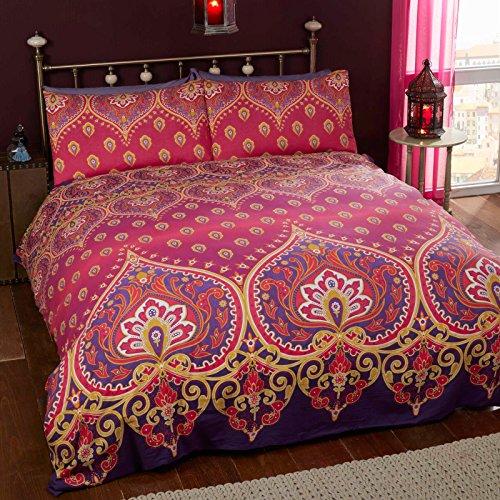 Just Contempo-Set copripiumino in stile marocchino, colore: rosa/viola, King