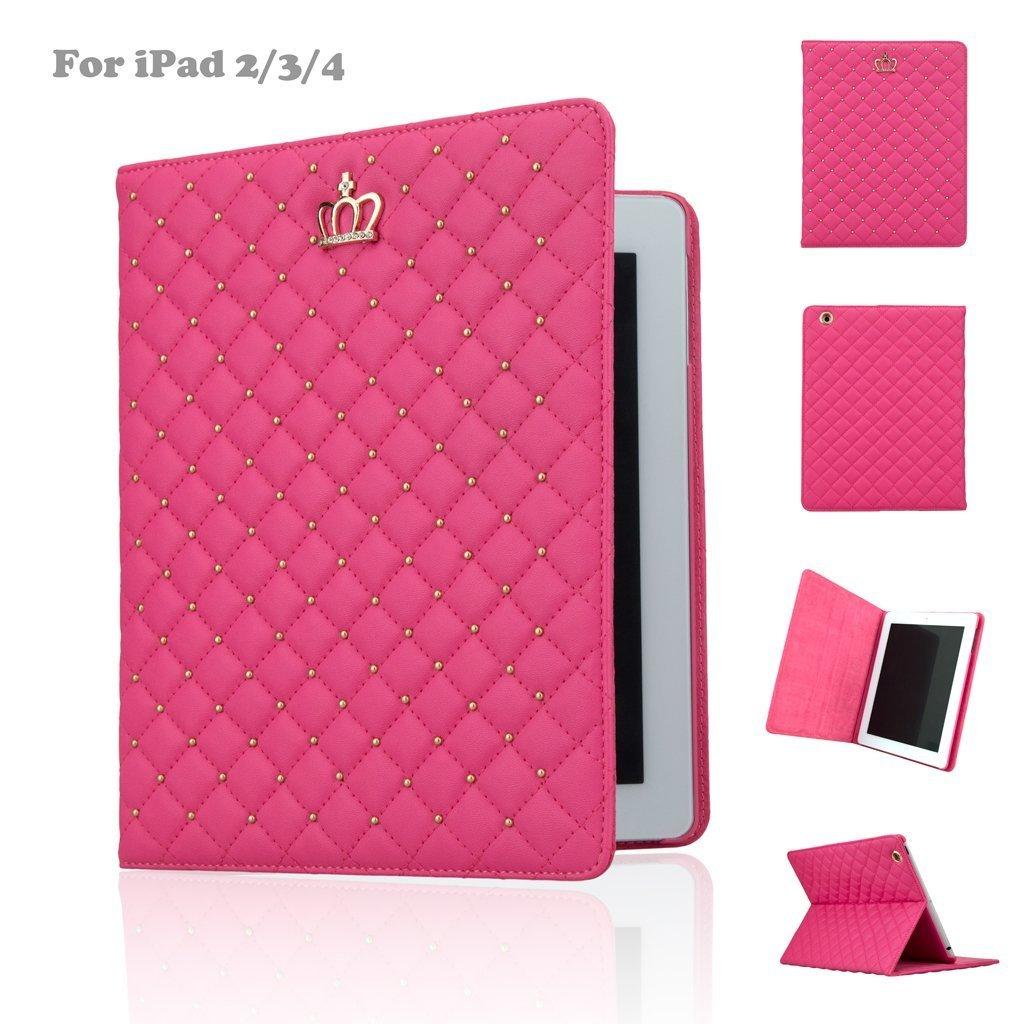 Custodia per iPad, iPad 2/3/4caso, per Apple iPad 2, iPad 3, iPad 4, Corona in pelle sintetica Des