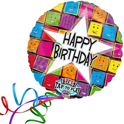 Folienballon SINGEND FOLIENBALLON - HAPPY BIRTHDAY GESICHTER XXL 70cm, mit Helium gefüllter Luftballon zum Geburtstag + PORTOFREI + Geschenkkarte. High Quality Premium Ballons vom Luftballonprofi & deutschen Heliumballon Experten. Luftballon Geschenke zum Geburtstag und lustige Deko Geburtstag