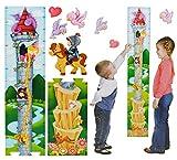 3-D Moosgummi - Meßlatte - Märchen Turm Rapunzel - Wandtattoo selbstklebend mit 4 Sticker / Aufkleber - Messlatte / Meßlatten - Wachstumsleiste - für Kinder / Mädchen - Wandsticker