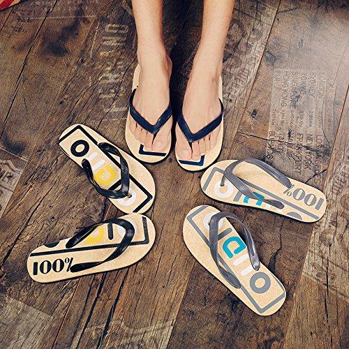 Les hommes et femmes tongs, sandales de plage dété pour hommes, chaussons antidérapants gray