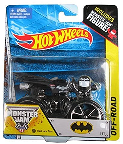 Hot Wheels Off-Road Series #21 Batman with Track Ace Tires, Includes Monster Jam Figure by Mattel
