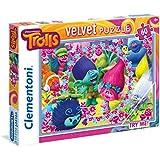 Clementoni - 20138.9 - Velvet Puzzle- Les Trolls - 60 Pièces