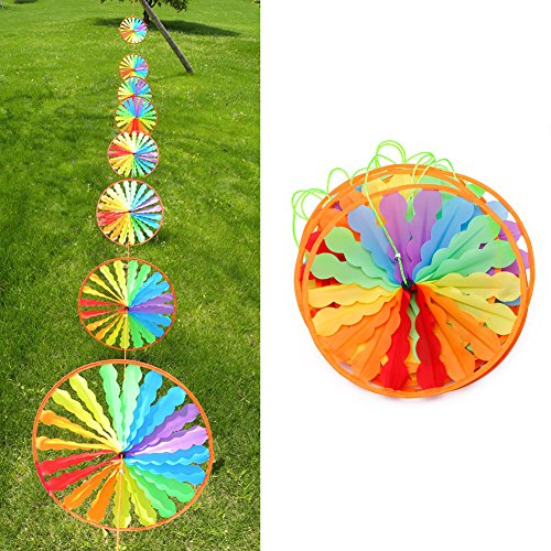 Kalttoy 8pcs Rad Rainbow Windmill Wind Spinner Whirligig Gartenhaus Rasen Yard Decor