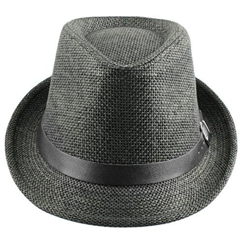Shanxing Fedora Hut Herren Trilbyhut Panamahut Sonnenhut Hüte Jazz Kappe, 021-Grau, one size
