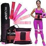 Elastici Fitness, Tappetino Fitness e Fascia Dimagrante | Attrezzi Palestra Casa Bande Elastiche Fitness Kit 3in1 Donna Bruci