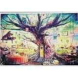 Winni43Julian Leuchtendes Puzzle, 1000 Teile Jigsaw Puzzle, 75 * 50 cm, Schönem Muster für Kinder und Erwachsene (Baum)