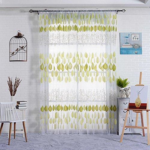 Display08 fashion foglia modello finestra tenda velata divisorio drappo casa decorazione green
