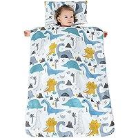 Jycra - Sacco a pelo per bambini, unisex, con motivo cartoni animati, indossabile, tappetino per il sonnellino, con…